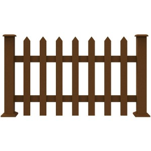 Easy Assembled Non-fading Wpc Garden Fence