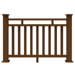 Outdoor Composite Balustrade WPC Decoration Fencing