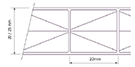 Multi-wall polycarbonate sheet 117